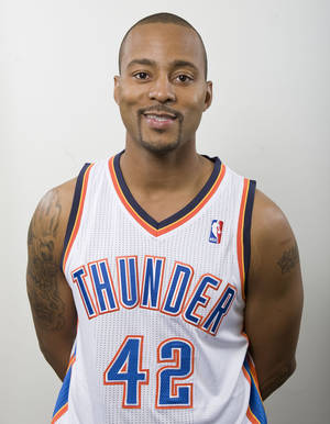 photo - Morris Peterson likes playing for the Thunder so far. AP photo