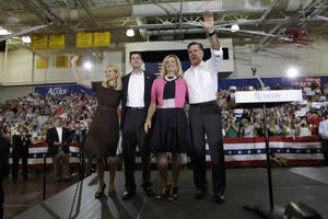 photo - Janna Little Ryan, wife of Rep. Paul Ryan, R-Wis., is a Madill native whose familys roots precede statehood. AP PHOTO