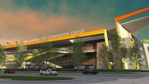Photo - This provided  illustration shows the proposed MAPS 3 Oklahoma City Convention Center.