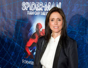 "Photo - FILE - In this June 14, 2011 file photo, Julie Taymor arrives at the opening night performance of the Broadway musical ""Spider-Man Turn Off the Dark"" in New York. A settlement has been reached between the producers of ""Spider-Man: Turn Off the Dark"" and its fired director, Julie Taymor. Both sides on Wednesday, April 10, 2013, said in a statement that: ""All claims between all of the parties in the litigation have been resolved.""  Taymor filed a lawsuit in November 2011, saying her copyrighted written works were violated when she was fired last year and the musical's script was rewritten after the $75 million production had trouble getting past previews. (AP Photo/Charles Sykes, file)"