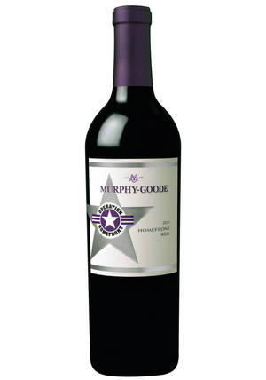 Photo - This undated publicity photo provided by courtesy of Murphy-Goode Winery shows a bottle of Murphy-Goode Homefront 2011 red wine. (AP Photo/Courtesy Murphy-Goode Winery)