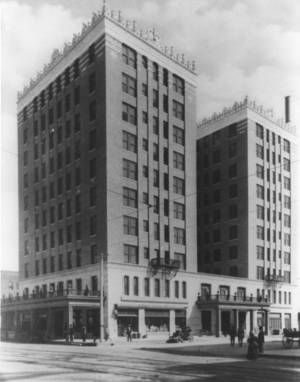 photo - The Skirvin Hotel is shown shortly after it opened in 1911. <strong>Oklahoman archives</strong>