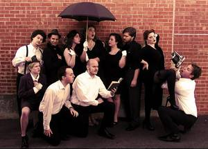 "Photo - Cast of Reduxion Theatre's ""Love's Labour's Lost"" including Jessa Schinske, Charlie Monnot, Ian Clinton, Catherine Pitt, Claire Dixon Powers, Sam Bearer, Mitchell Jonathan Reid, Susan Riley and Jeffrey Burleson. Photo provided"