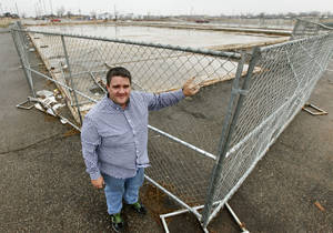 Photo - Former General Manager Jon Fisher stands at the corner of what used to be the AMF Moore Bowl in Moore, OK, Friday, December 13, 2013,  Photo by Paul Hellstern, The Oklahoman