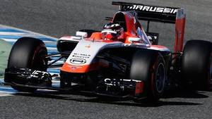 Photo - Marussia have unveiled their 2014 Formula 1 car at Jerez, after technical issues delayed the MR03's launch to day three of pre-season testing.