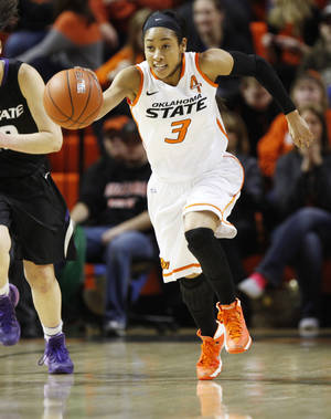 Photo - Oklahoma State's Tiffany Bias ranks fifth in Big 12 history with 757 career assists.                    Photo by KT King, The Oklahoman