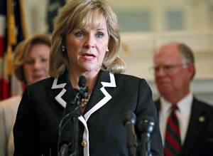 Photo - Oklahoma Gov. Mary Fallin is seen in this file photo.