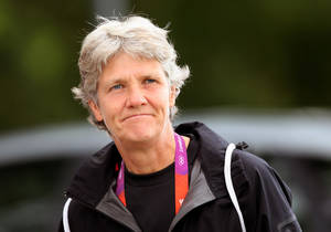 "Photo -   FILE - This Aug. 2, 2012 file photo shows U.S. women's soccer head coach Pia Sundhage arriving at a soccer practice for the 2012 London Summer Olympics at Cochrane Park in Newcastle, England. After leading the team to two Olympic gold medals and its first spot in a World Cup final in more than a decade, Sundhage is stepping down. Saturday's announcement of Sundhage's departure came just a few hours before the Americans kicked off their ""victory tour"" to celebrate their gold medal at the London Olympics, where the Americans beat Japan 2-1 in a rematch of last year's World Cup final. The search for a new coach will begin immediately. (AP Photo/Scott Heppell, File)"