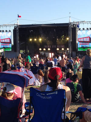 Photo -  A crowd at the Suburbia Music Festival in Plano, Texas, takes in the music Third Eye Blind.  <strong> -  PHOTO PROVIDED BY MI-LING STONE POOLE </strong>