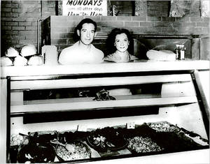 Photo - John and Levita Bayless behind the counter at the Hickory House, SW 25 and Western. PHOTO PROVIDED