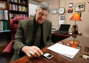 Photo - Mid-Del School superintendent Bill Scoggan in the Mid-Del Administration office in Midwest City, Oklahoma on Tuesday, April 2, 2008. BY STEVE SISNEY, THE OKLAHOMAN