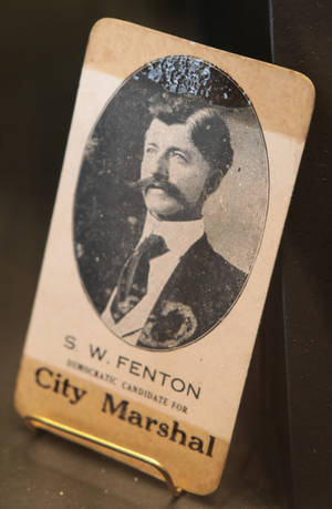 Photo - A photo of lawman Stringer Fenton is in the new Elmer McCurdy  exhibit. Photo by David McDaniel, The Oklahoman <strong>David McDaniel - The Oklahoman</strong>
