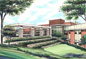 Photo - This is an artist's drawing of the 50-bed Mercy Rehabilitation Hospital, at Memorial Road and MacArthur Boulevard. Construction is expected to begin Aug. 16 and be complete the fall of 2012.