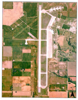Photo - Left: The runway at Burns Flat is the third longest civilian runway in North America, officials say. PHOTO PROVIDED