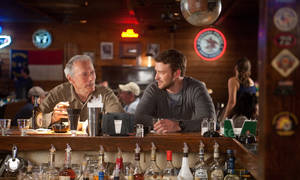 "Photo -   This film image released by Warner Bros. Pictures shows Clint Eastwood, left, and Justin Timberlake in a scene from ""Trouble with the Curve."" The film, about an aging and ailing baseball scout, will be released on Sept. 21. (AP Photo/Warner Bros. Pictures, Keith Bernstein)"