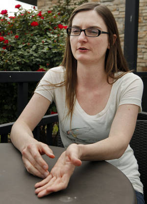 Photo - Heather Fry will graduate May 11 from Oklahoma City Community College. Photo by Steve Sisney, The Oklahoman
