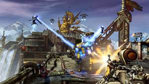 "Photo -   This video game image released by 2K Games shows a scene from ""Borderlands 2."" (AP Photo/2K Games)"