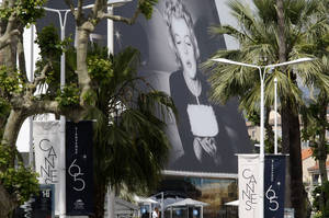Photo -   A view of the venue of the 65th international film festival, in Cannes, southern France, Tuesday, May 15, 2012. The Cannes film festival runs from May 16 to May 27, 2012. (AP Photo/Lionel Cironneau)