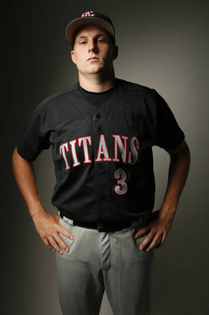 Photo - Gavin LaValley, Carl Albert High School baseball player, in Oklahoma City, Wednesday, June 4, 2014. Photo by Nate Billings, The Oklahoman
