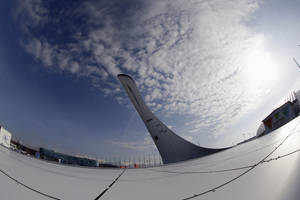Photo - The Olympic cauldron for the 2014 Winter Olympics is shown Saturday, Jan. 25, 2014, in Sochi, Russia. The Olympics begin Feb. 7th. (AP Photo/David J. Phillip)