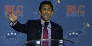Photo - NEW ORLEANS, LA - MAY 29:  Louisiana Gov. Bobby Jindal speaks during the 2014 Republican Leadership Conference on May 29, 2014 in New Orleans, Louisiana. Members of the Republican Party are scheduled to speak at the 2014 Republican Leadership Conference, which hosts 1,500 delegates from across the country through May 31st.  (Photo by Justin Sullivan/Getty Images)