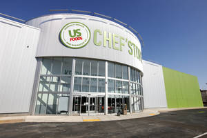 Photo - U.S. Foods' Chef'Store will open soon at 515 SW 74, along Interstate 240 near Walker Avenue, in the former Ultimate Electronics. Photos by PAUL B. SOUTHERLAND, The Oklahoman