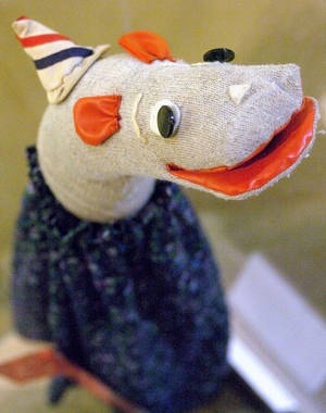 Photo - Bill Howard, the longtime Oklahoma City TV personality, was best known for his witty performance as Pokey the Puppet, Ho Ho the Clown's sidekick. The sock puppet is on display at the Oklahoma History Center. The Oklahoman Archives Photo