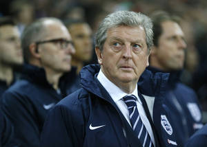 Photo - England's soccer team manager Roy Hodgson looks round as he stands in the technical area prior to the World Cup Group H qualification soccer match between England and Poland at Wembley stadium in London, Tuesday, Oct. 15, 2013. (AP Photo/Kirsty Wigglesworth)