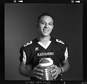 Photo - All-State high school football player Sinue Rodriguez of Sallisaw poses for a photo in Oklahoma City, Monday, Dec. 17, 2012. Photo by Nate Billings, The Oklahoman
