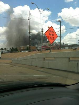 Photo - Chemical fire in OKC on Tuesday