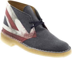Photo - Show your Olympic spirit with Clark's Union Jack desert boots. (www.piperlime.gap.com) Photo provided. <strong></strong>