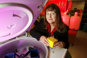 photo - OMRF scientist Dr. Judith James <strong>Steve Sisney - By Steve Sisney</strong>