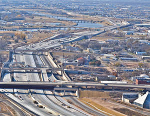 Photo - Interstate 40 has been relocated south of the Oklahoma City downtown area. PHOTO PROVIDED