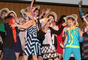 Students from the Lyric Theaters Thelma Gaylord Academy perform during the Allied Arts 2013 campaign kickoff event Tuesday.