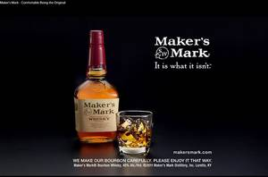 Photo - FILE- This file still frame image made from video provided by Maker's Mark Distillery Inc., shows a bottle of Maker's Mark in an advertisement. After a backlash from customers, the producer of Maker's Mark bourbon is reversing a decision to cut the amount of alcohol in bottles of its famous whiskey. (AP Photo/Marker's Mark Distillery Inc., File)