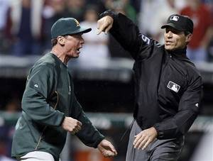 Photo - Count A's manager Bob Melvin as someone who wants more accountability from Angel Hernandez and the umps. (AP)