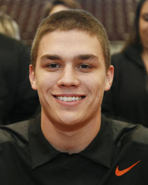 Photo - Jenks Dylan Harding at the college signing at Jenks, OK,  Feb. 5, 2014.  STEPHEN PINGRY/Tulsa World
