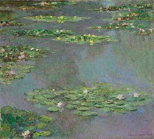"Photo -   This image provided by Christie's Images, Ltd, in New York, Friday Nov. 9, 2012, shows a work from Claude Monet's ""Water Lilies"" series. The painting is from the estate of Ethel Strong Allen, widow of Wall Street executive Herbert Allen Sr., that she bequeathed to a suburban boarding school, was sold Wednesday for more than $43-million at Christie's Evening Sale of Impressionist & Modern Art. (AP Photo/Christie's Images Ltd., 2012)"