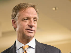 Photo - Gov. Bill Haslam speaks about his opposition to a bill seeking to prohibit the teaching of gay issues to elementary and middle school students, in Nashville, Tenn. The bill is now back for the legislature's 2013 session. (AP Photo/Erik Schelzig)