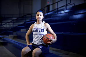 photo - GIRLS HIGH SCHOOL BASKETBALL: Shawnee's Kelsee Grovey poses for a portrait, Wednesday, March 9, 2011 at Shawnee High School. Photo by Sarah Phipps, The Oklahoman.