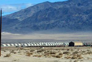Photo - Bunkers are seen at the Hawthorne Army Depot on Tuesday, March 19, 2013, where seven Marines were killed and several others seriously injured in a training accident Monday night, about 150 miles southeast of Reno in Nevada's high desert. (AP Photo/Scott Sonner)