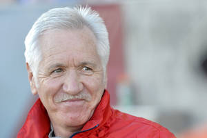 Photo - Tom Sermanni, U.S. women's soccer coach, looks on against China during the first half of an international friendly soccer match in Commerce City, Colo., on Sunday, April 6, 2014. U.S. Soccer fired Sermanni on Sunday, following a disappointing seventh-place finish last month at the Algarve Cup. The surprising move came just 16 months after he took over the program. (AP Photo/Jack Dempsey)