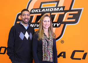 Photo - OSU-OKC academic adviser Kenneth Chapman and student Heather McElwain. PHOTO provided
