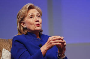 "Photo -  This June 25 photo shows former Secretary of State Hillary Rodham Clinton speaking in San Diego. There may be more to that ""we the people"" notion than you thought. These are boom times for the concept of ""corporate personhood."" AP Photo  <strong>Lenny Ignelzi -  AP </strong>"