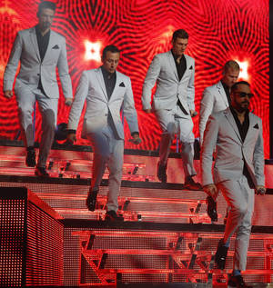 Photo - The Backstreet Boys perform at Chesapeake Energy Arena, Friday, June 6, 2014. Photo by Bryan Terry, The Oklahoman