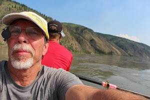 Photo - Steven Price, associate vice president for technology development at Oklahoma State University, rows on the Yukon River in Canada. Photo by Steven Price