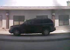 Photo -  This surveillance photo shows the vehicle used in Wednesday's robbery of IBC Bank, 5701 N May Ave., in Oklahoma City. PHOTO PROVIDED  <strong> -  Photo provided. </strong>