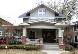 Photo - Jonathan and Annie Middlebrooks' home at 920 NW 16 is one of several on this year's Mesta Park Holiday Home Tour. <strong>PAUL B. SOUTHERLAND - The Oklahoman</strong>