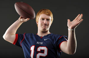 Photo - All-State football player Andrew Hearon, of Metro Christian, poses for a photo in Oklahoma CIty, Wednesday, Dec. 14, 2011. Photo by Bryan Terry, The Oklahoman