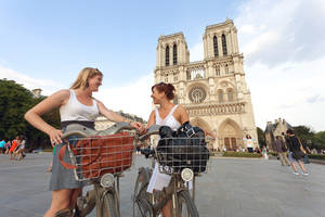Photo -  Summertime bike touring is a fun way to see the sights in Paris. (photo: Dominic Bonuccelli)